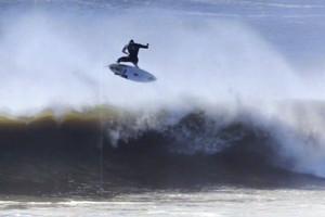 Surfing in the New York Blizzard