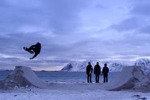 Skateboarding on Frozen Sand