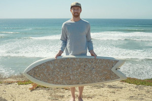 A Surfboard Made From 10,000 Cigarettes