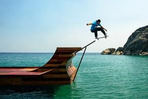 Bob Burnquist's Floating Halfpipe