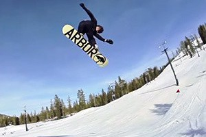 Snowboarding to Music: Boreal — Flux Bindings