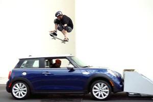 Tony Hawk Jumps a Moving Car