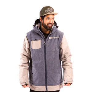 3CS Chronolog Men's Snowboard Jacket — Indigo