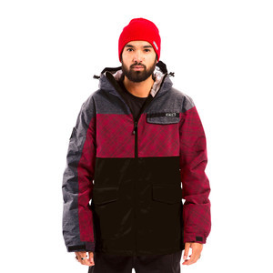 3CS Combi Nation Men's Snowboard Jacket — Red Dawn