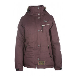 3CS Bodega Women's Snowboard Jacket - Raisin Red