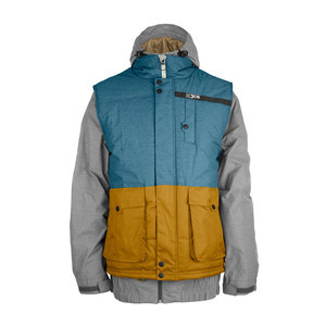 3CS Sorsa 3-in-1 Men's Snowboard Jacket - Stone