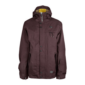 3CS Tomahawk Men's Snowboard Jacket - Raisin Red