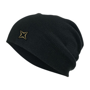 3CS Staple Beanie - Black