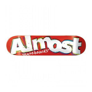 """Almost Neo Expressionism 7.75"""" Skateboard Deck - Red"""