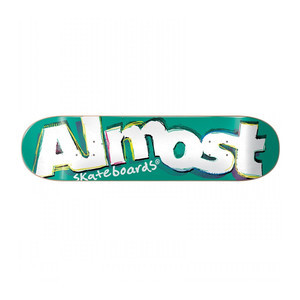 "Almost Neo Expressionism 8.0"" Skateboard Deck - Teal"