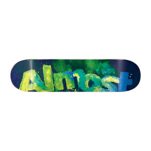 "Almost Blotchy Logo 8.0"" Skateboard Deck - Green"