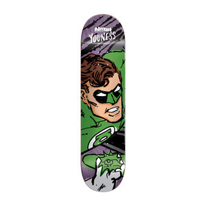"Almost Youness Sketchy Green Lantern 8.125"" Skateboard Deck"
