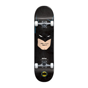 "Almost Batman Face 7.75"" Complete Skateboard - Black"