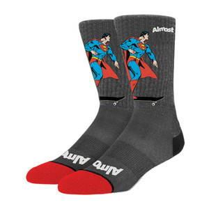Almost Super Mongo Socks - Grey