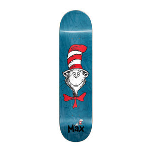 "Almost x Dr. Seuss Cat Face 8.25"" Skateboard Deck - Max"
