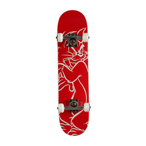 "Almost Tom White Lines Youth 7.0"" Complete Skateboard - Red"