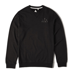 Altamont Antisec Fleece Crewneck — Black