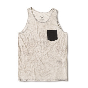Altamont Drop Cloth Pocket Tank — Bone