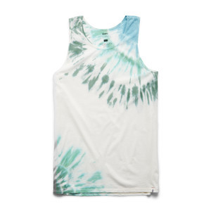 Altamont Optic Peak Tank Top - Green Tie-Dye