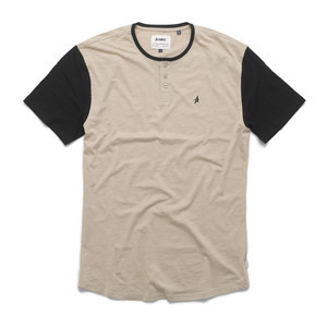 Altamont Spansive Short-Sleeve Henley T-Shirt - Tan/Black