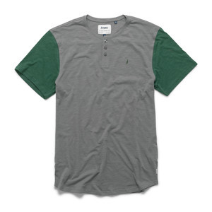 Altamont Spansive Short-Sleeve Henley T-Shirt - Grey/Green