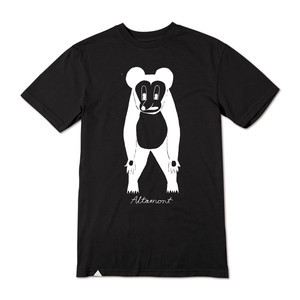 Altamont Bear Animal T-Shirt — Black