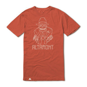 Altamont Digital Skeleton T-shirt - Clay
