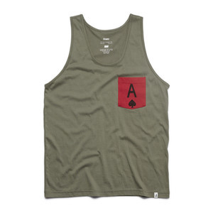 Altamont Spades Pocket Tank Top - Safari