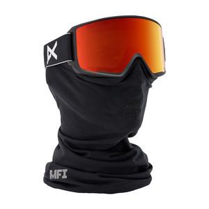 anon. M3 MFI Snowboard Goggle - Black / Red Solex + Bonus Lens