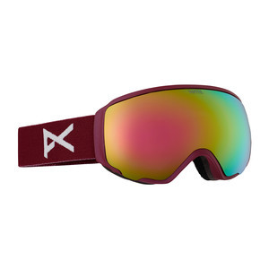 anon. Wm1 Women's Snowboard Goggle - Merlot / Pink Cobalt + Bonus Lens
