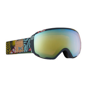 anon. Wm1 Women's Snowboard Goggle - Tiki / Gold Chrome + Bonus Lens