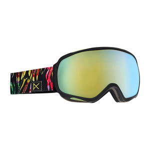 anon. Tempest Women's Snowboard Goggle - Jungle / Gold Chrome