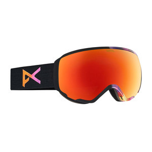 anon. Wm1 Women's Snowboard Goggle - Aura Black / Red Solex + Spare Lens