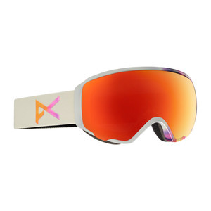anon. Wm1 Women's Snowboard Goggle - Aura / Red Solex + Spare Lens