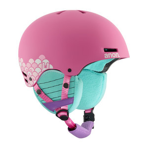 anon. Rime Youth Snowboard Helmet 2018 - Animal Trax / Pink