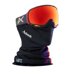 anon. Tempest MFI Women's Snowboard Goggle 2018 - Aura Black / Red Solex