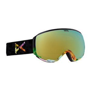 anon. WM1 MFI Women's Snowboard Goggle 2018 - Black Widow / Gold Chrome + Bonus Lens (Asian Fit)