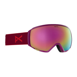 Anon WM1 MFI Women's Snowboard Goggle 2019 - Magenta / Sonar Pink + Spare Lens
