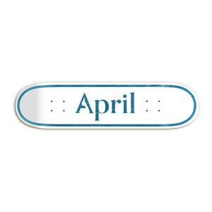 "April Logo 8.0"" Skateboard Deck - Blue"