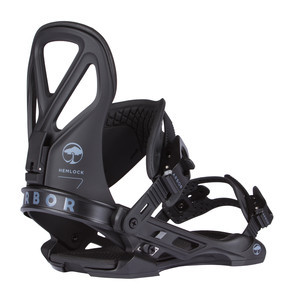 Arbor Hemlock Snowboard Bindings 2018 - Black
