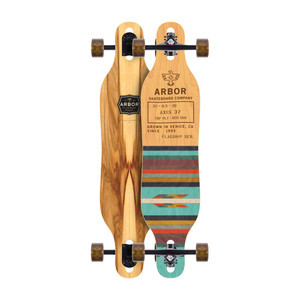 "Arbor Axis 37"" Complete Skateboard - Flagship"