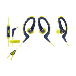 Audio-Technica ATH-SPORT1is Headphones — Navy/Yellow