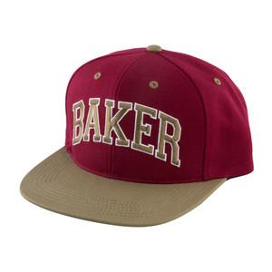 Baker Blitz Snapback Hat - Cardinal/Gold