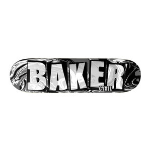 "Baker Cyril Brand Name Abstract 8.25"" Skateboard Deck"