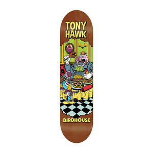 "Birdhouse Hawk Vices 8.0"" Skateboard Deck - Brown"