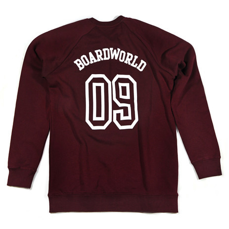 BOARDWORLD Team Crew - Burgundy