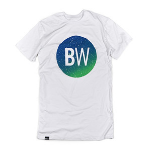 Boardworld Blue/Green Circle Tall Tee - White