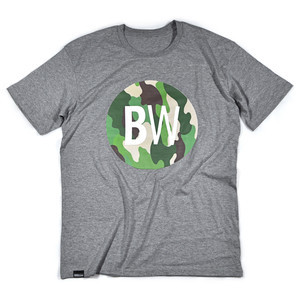 BOARDWORLD Camo Circle T-Shirt - Grey
