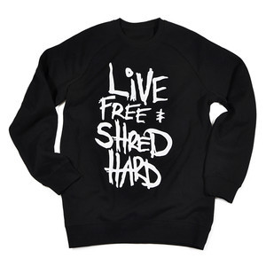 BOARDWORLD Live Free & Shred Hard Crew - Black