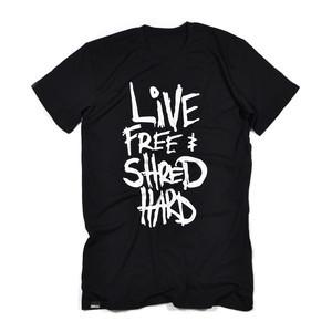 Boardworld Live Free & Shred Hard Tall Tee - Black